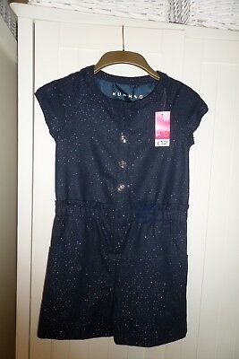 Girls Nutmeg Navy Sparkly Wool MIx Playsuit Age 10-11 Years BNWT