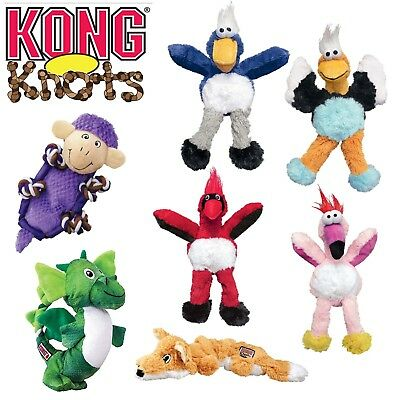 Kong Knots Dog Puppy Plush Soft Squeaky Crinkle Fetch Throw Toy