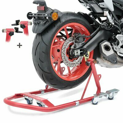 Rear Paddock Stand Dolly Kawasaki ZZR 1400 ConStands Mover I Racing Red