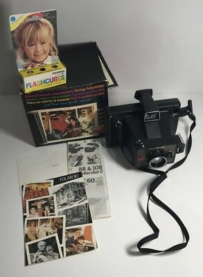 VINTAGE RETRO Polaroid EE55 Land Camera in Original Box, Made in the UK 1976