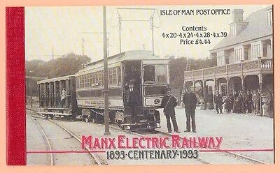 1993  Isle Of Man Stamp Booklet Sb34  'manx Electric Railway Centenary'