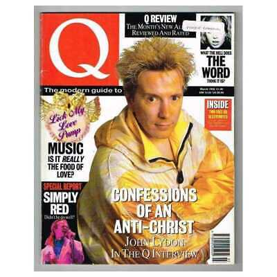 Q Magazine March 1992 MBox2844 John Lydon - Simply Red - The Word