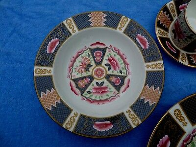Coalport Java Bone China Set Imari Style Rimmed Soup Bowl   8""