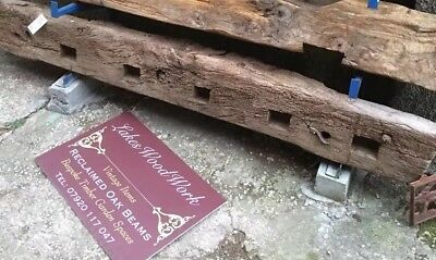 RECLAIMED CHARACTER OAK BEAM (No 224) TIMBER / FIREPLACE / WOOD / MANTLE (211cm)
