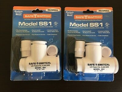 2 Rectorseal Safe-T-Switch Model SS1 Condensate Overflow Shut-off Switch 97632