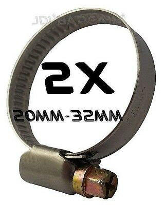 Water Pipe 2x 12-20mm Worm-Drive Hose Clips,Stainless Steel,Jubilee Type,Fuel