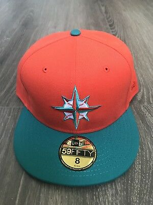 New Era MLB Seattle Mariners  Fitted Cap Size 8 Miami Dolphins hookup