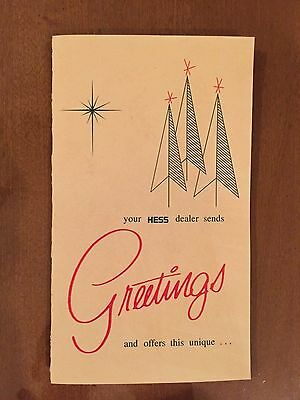 1966 Hess Voyager Season Greetings Card