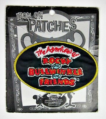 The Adventures of Rocky and Bullwinkle and Friends Iron On Embroidered Patch