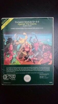 AD&D 2nd Adventure - Against the Giants - G1-2-3 - TSR9058 - Very Rare!