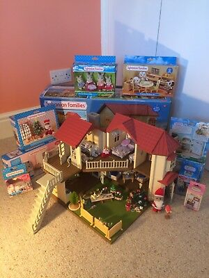 Sylvanian Families Beechwood Hall Bundle Boxed Includes Lots Excellent Condition