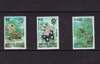 British Indian Ocean Territory: 1973, Wildlife (1st series) insects etc Mint set