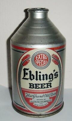 Ebling's Extra Special Beer Early Crowntainer Great Graphics & Display