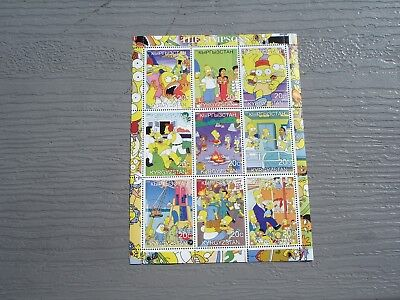 The Simpsons Stamps From Kyrgyzstan