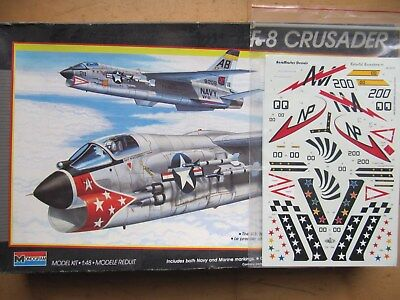 Monogram 5826 F-8 Crusader (+ Decals Colouful Crusader), 1/48