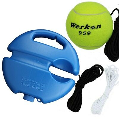 Tennis Trainer Rubber Ball Back Base Youth Sports Exercise Single Training Aid