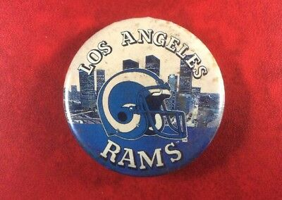 Old Vintage Pin Button Badge American Football RAMS LOS ANGELES. Metal. SCARCE !