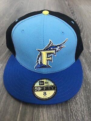 New Era Florida Marlins Fitted Cap Size 8