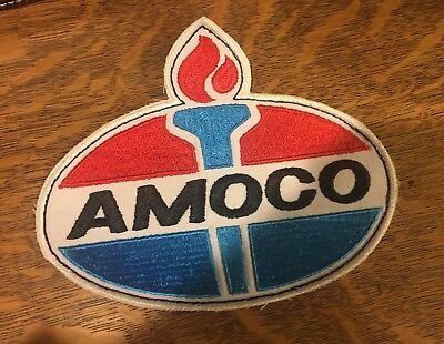 AMOCO Patch Badge LARGE Perfect Condition - New/Old Stock Free Shipping!