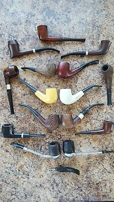 Vintage SMOKING PIPE LOT of 15 Old Briar Wood Tobbacco Some RARE & UNUSUAL Smoke