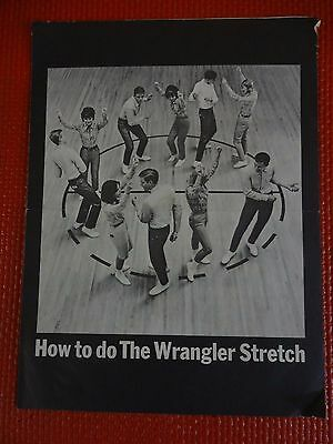 "1964 Advertisement Wrangler Jeans ""The Wrangler Stretch"" Photo & Music Vintage"