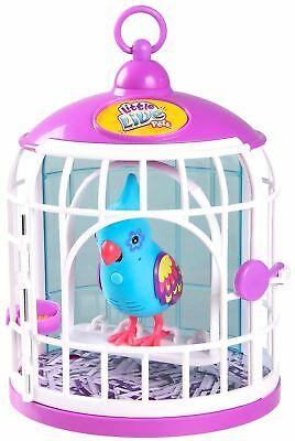 Little Live Pets BLUE FUNKY FEATHERS  Bird in CAGE - NEW