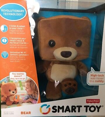 Fisher-Price Smart Interactive Bear Toy Smart Cards Voice Recognition