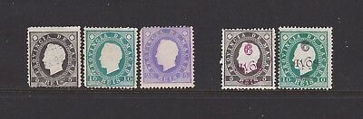 MAC1Macao 1888-1902 Embossed types, see scan & description.