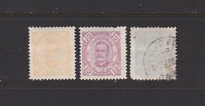 """MAC3Macao 1894 """"Figures"""" types MM or used, see description."""