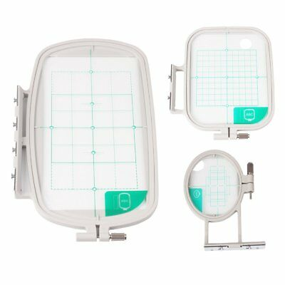 3-Piece Embroidery Hoop Set for Brother Embroidery Machines - SE400 PE500 LB6800