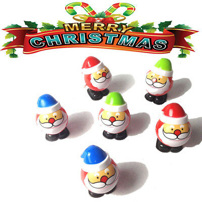4x Wind Up Toys Christmas Santa Claus Wind Up Walking Toy Gift for Toddlers Kids