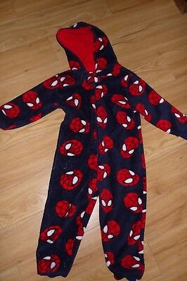 Boys Spider-Man all in one onsie with hood - age 4-5 years