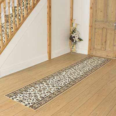 Persian Beige - Hallway Carpet Runner Rug Traditional Hall Extra Long Cheap New