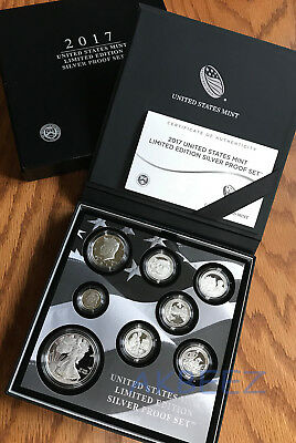 2017-S Limited Edition Silver Proof Set 17RC ** IN HAND ** Free Ship
