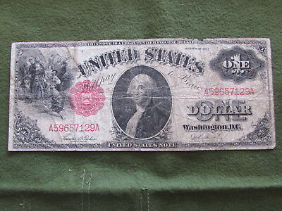 $1 Bill United States One Dollar Paper Money Series 1917 Horse Blanket Note