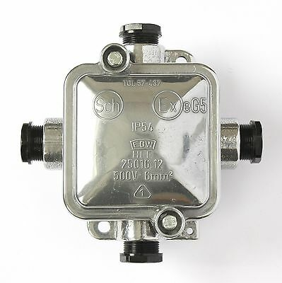 Historical Surface-Mounted Aluminum Junction Box with High Gloss Polish Vintage