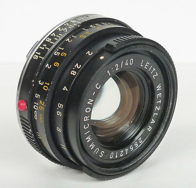 LEICA SUMMICRON-C 40mm f/2 M-MOUNT LENS for LEICA CL RF BLACK GERMANY *read*