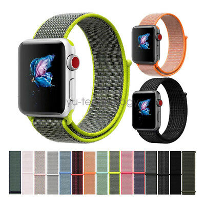 Nylon Sport Loop Armband Nylonamband Für Apple Watch Band 40mm 44mm 38mm 42mm