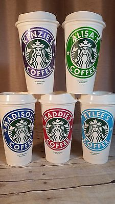 Starbucks Reusable Coffee Cup with personalized name