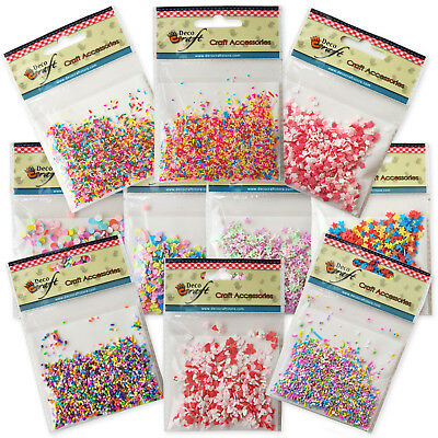 10g Decoden FAKE Faux Clay Sugar Sprinkles.  Phone Decoration. Craft Use Only