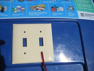 Vintage *** SIERRA ELECTRIC *** 2-Gang Toggle Switch Wall Plate Set of 1 USA