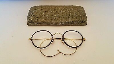 Gold Wire Antique Glasses with original case,  sprung arms,  FREE DELIVERY