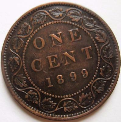 1899 Canada Large 1c One Cent Coin Canadian Penny Queen Victoria Value Lot 5