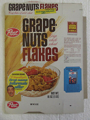 1950-60s Post Grape Nuts Flakes Country Store Jim Nabors NM/M Unused File Box