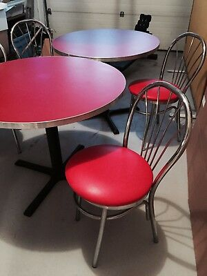 Retro Vintage Pub Tables, Chairs and Swivel Stool