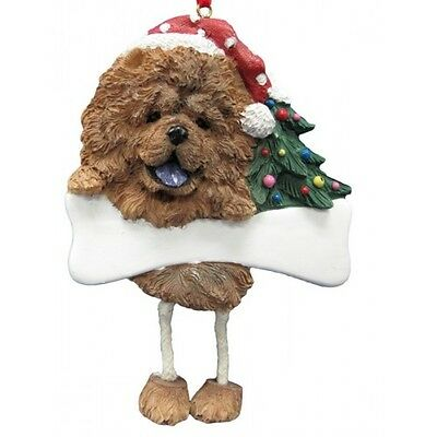 Chow Chow Dangling Wobbly Leg Dog Bone Christmas Ornament