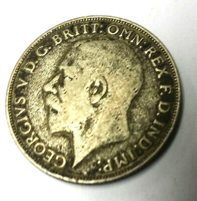 Great Britain Uk Coins, One Florin 1922, George V, Silver 0.500 .