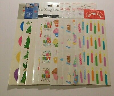 Mrs Grossman's Stickers You Choose Brand New Sealed Pack 2 or 3 Strips Holidays