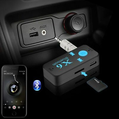 X6 Wireless Bluetooth 3.5mm AUX Audio Stereo Music Home Car Receiver Adapter AU