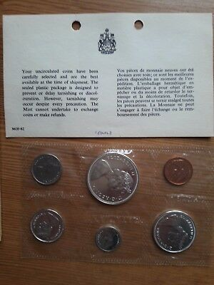 1967 Canadian 6 coin proof set, silver